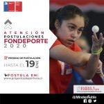 SE ABREN POSTULACIONES A FONDEPORTE 2020