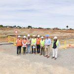 GOBERNADOR, ALCALDES Y CONCEJALES DE PUNILLA VISITAN OBRAS DEL NUEVO HOSPITAL REGIONAL