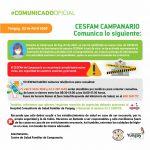 CESFAM DE CAMPANARIO INFORMA COMUNA DE YUNGAY