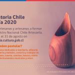 ABRIÓ CONVOCATORIA PARA REGISTRO CHILEARTESANÍA 2020