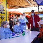 INTENDENTE JARDUA Y SEREMI DE SALUD INSPECCIONAN FUNCIONAMIENTO DEL PRIMER PCR MÓVIL DE ÑUBLE