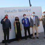INAUGURAN REMOZADA FACHADA DEL ESTADIO MUNICIPAL DE QUILLÓN